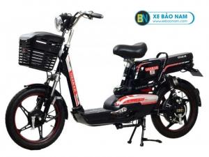 Xe đạp điện Osakar A8 màu đen tem đỏ