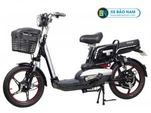 Xe đạp điện Osakar A8 màu đen tem bạc