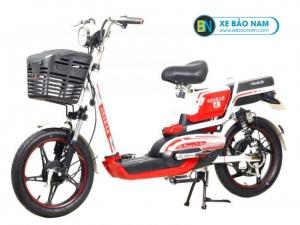 Xe đạp điện Osakar A8 màu trắng đỏ