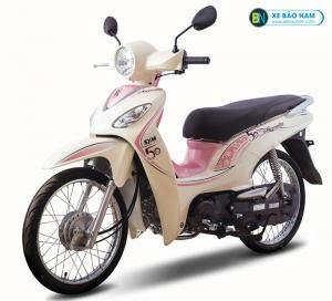 Xe máy Angela 50 màu trắng viền hồng