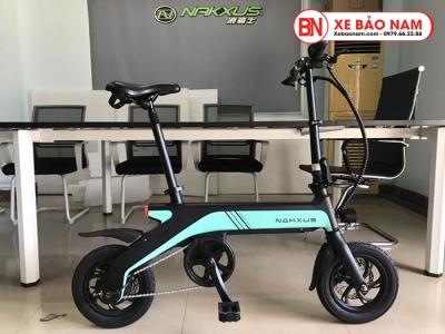 Xe điện gấp Nakxus 8 inch Mới nhất màu xanh ngọc