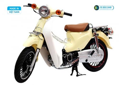 Xe cub lùn 50cc màu kem