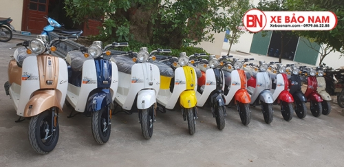Xe ga 50cc Crea New 2020 màu đỏ mận