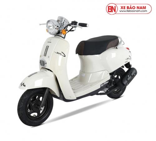 Xe ga 50cc Crea Hyosung màu trắng sữa