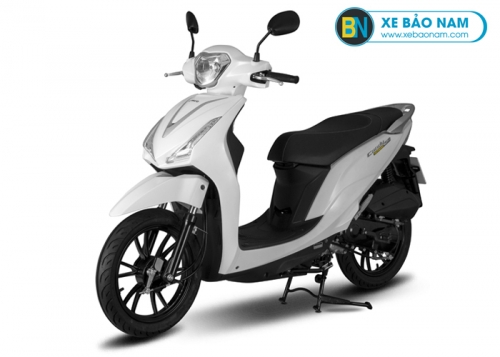 Xe máy Kymco 50cc Candy Hermosa màu trắng