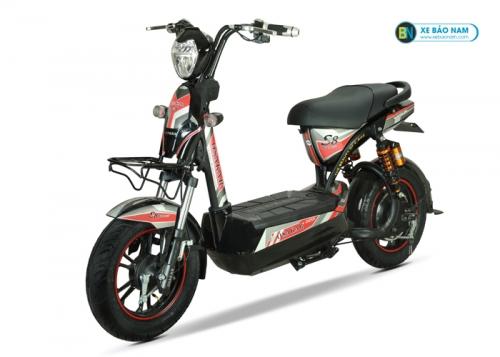 Xe máy điện Osakar S8 sport màu đỏ xám