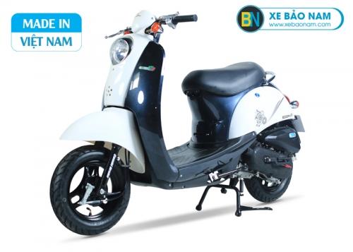 Xe ga 50cc Scoopy màu trắng xanh nhạt