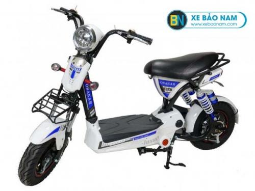 Xe đạp điện Osakar 12A màu trắng tem xanh