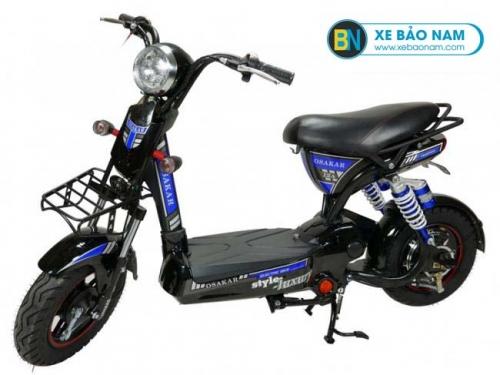 Xe đạp điện Osakar 12A màu đen tem xanh