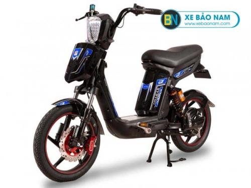Xe đạp điện Osakar Alpha màu đen tem xanh