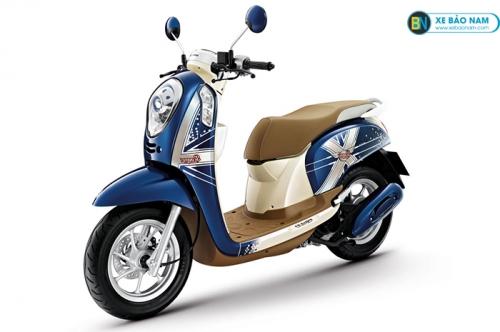 Xe scoopy 110cc màu xanh dương