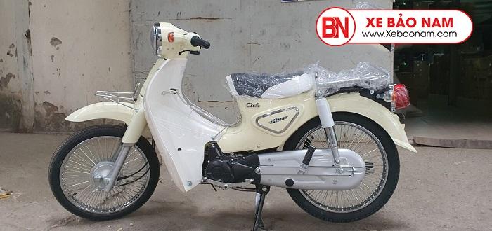 Xe Cub 50CC New Việt Thái 2020 màu kem