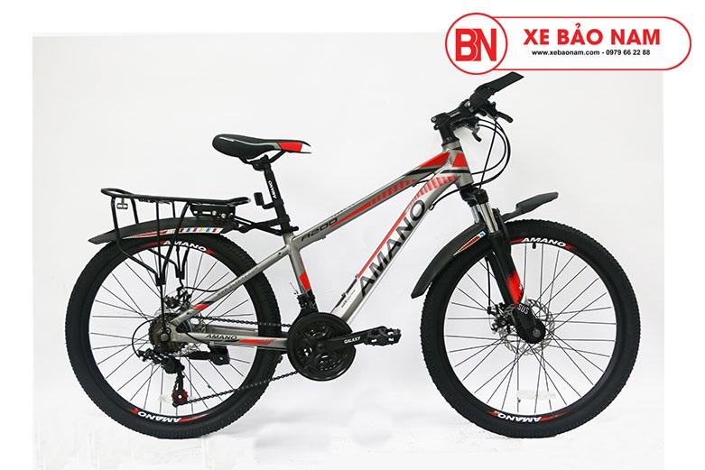 Xe đạp Amano A200 Mới nhất màu xám đỏ