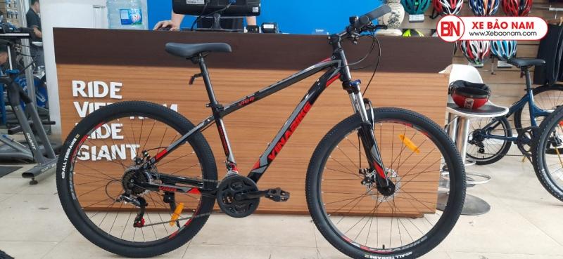 Xe đạp VinaBike V168 màu đen đỏ