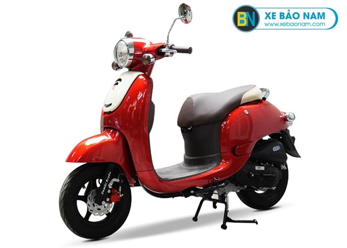 Xe ga 50cc Giorno phanh đĩa màu đỏ