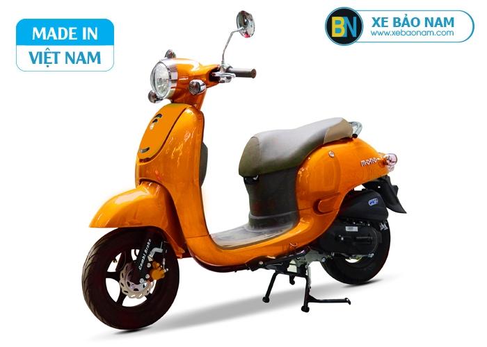 Xe ga 50cc Giorno phanh đĩa màu vàng cam