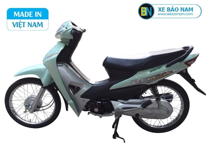 Xe máy Wave 50cc detech màu xanh ngọc