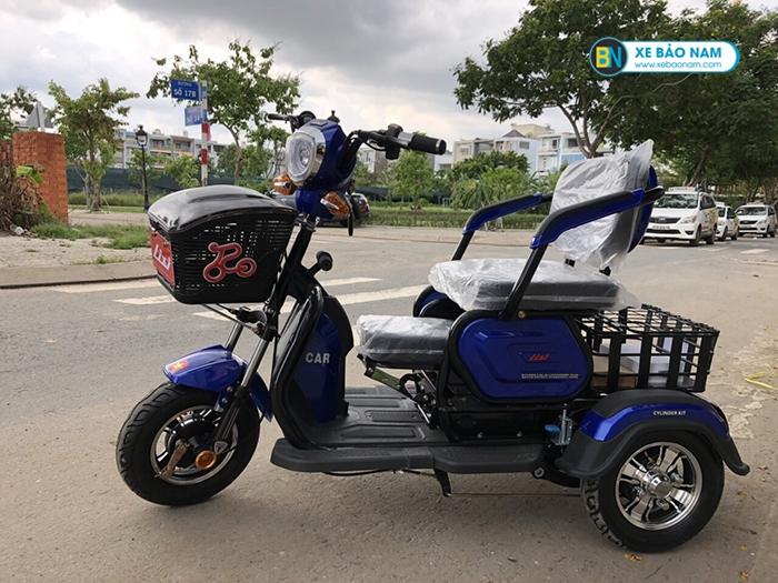 Xe điện 3 bánh Lixi màu xanh