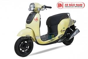 Xe ga 50cc Giorno 2 (Tem chìm) 2019 màu kem sữa