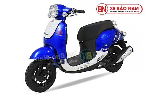 Xe ga 50cc Giorno 2 (Tem chìm) 2019 màu xanh dương