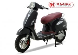 Xe máy điện Vespa Nioshima LX 2019 màu đen yên đỏ