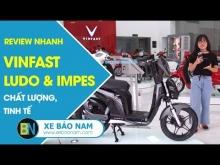 REVIEW XE MÁY LUDO & IMPES - 2 mẫu xe máy điện mới ra mắt của Vinfast