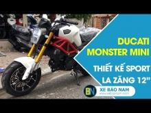 Ducati Monster Mini 110cc 2 New đời mới nhất 2019 ► Lazăng 12 inch thể thao thiết kế Sport đặc biệt