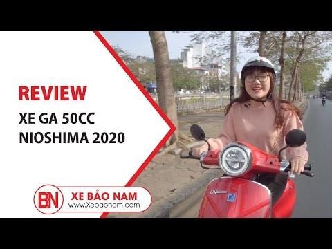 Review Xe ga 50cc Nio S 2020 Nioshima Học sinh ▶ Giá 19.900.000đ - Không cần bằng lái - Thời trang