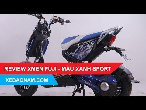 Đánh giá Xe máy điện XMEN FUJI 2017 - Màu xanh sport - bán Trả Góp - giá rẻ nhất Việt Nam.