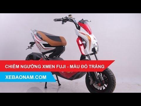 Đánh giá Xe máy điện XMEN FUJI 2017 - Màu đỏ trắng - có bán Trả Góp - giá rẻ nhất Việt Nam.